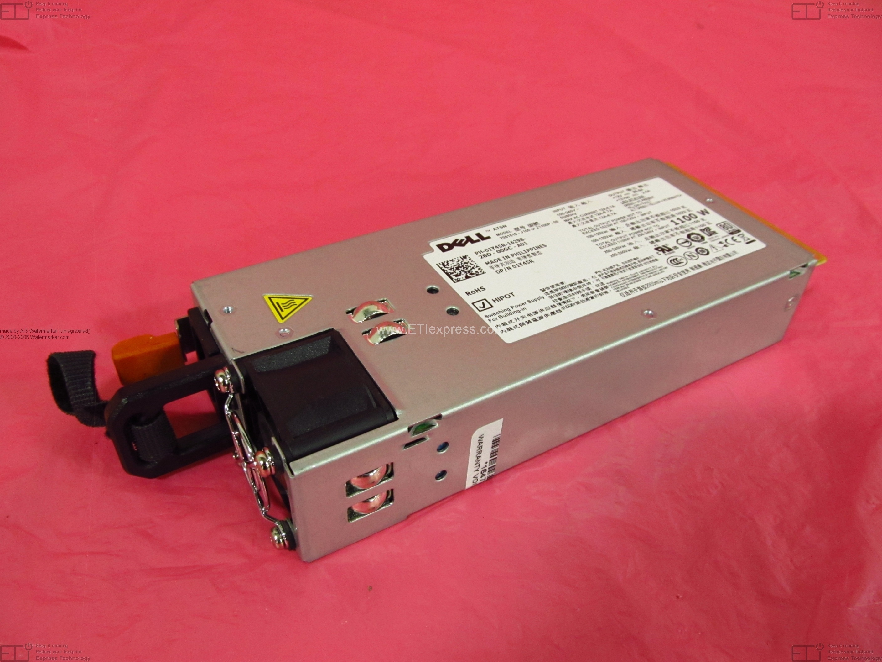 Mfr Dell P//N: X7167. 488W Redundant Power Supply for PowerVault MD1000//MD3000
