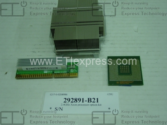 New Bulk HP Intel Xeon 5120 ML150G3 1.86 GHz, 65 Watts, 1066 FSB Certified Refurbished 417556-B21